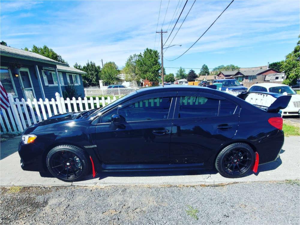 2020 Subaru WRX Flush on 17x9 35 offset MST Mt44 & 235/45 Dunlop Sp Sport Maxx Gt on Stock Suspension - Custom Offsets Gallery
