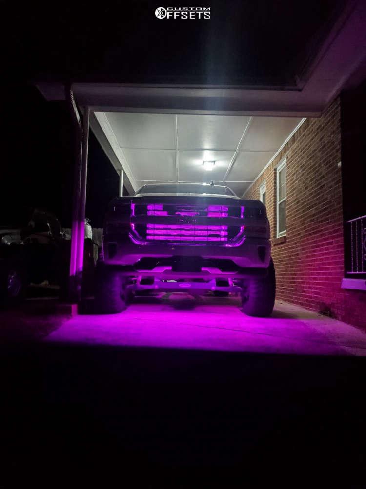 "2016 Chevrolet Silverado 1500 Slightly Aggressive on 20x9 18 offset TIS 535mb & 35""x12.5"" Mastercraft Courser Mxt on Suspension Lift 6"" - Custom Offsets Gallery"
