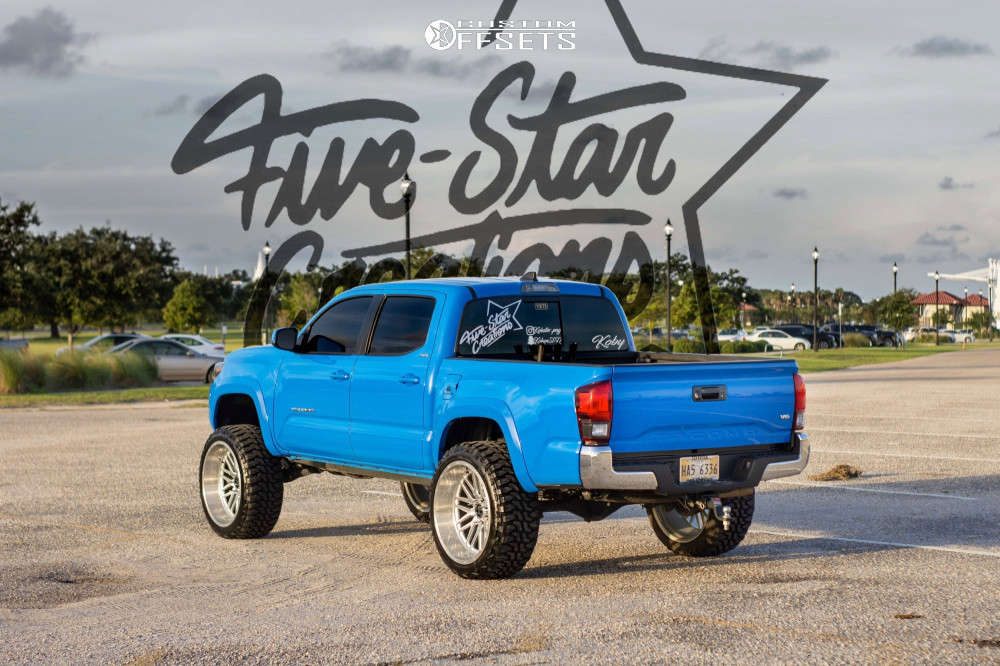 """2020 Toyota Tacoma Aggressive > 1"""" outside fender on 24x12 -44 offset Hardcore Offroad Hc19 & 35""""x12.5"""" Haida Mud Champ on Suspension Lift 7"""" - Custom Offsets Gallery"""