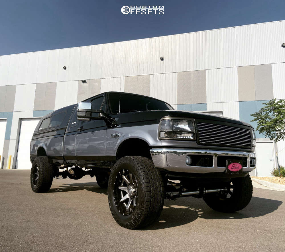 """1996 Ford F-250 Super Aggressive 3""""-5"""" on 20x10 -19 offset Fuel Rampage & 35""""x12.5"""" Cooper Discoverer At3 Xlt on Suspension Lift 4"""" - Custom Offsets Gallery"""