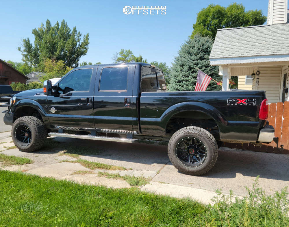 """2011 Ford F-350 Super Duty Super Aggressive 3""""-5"""" on 20x12 -44 offset Wicked Offroad W903 & 35""""x12.5"""" Falken Wild Peak At3w on Suspension Lift 3"""" - Custom Offsets Gallery"""