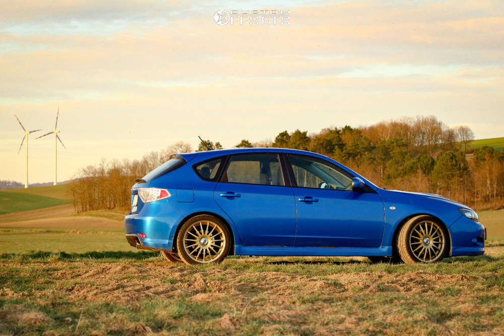 2009 Subaru Impreza Nearly Flush on 18x7.5 45 offset Team Dynamics Monza R & 225/40 Toyo Proxes Tr1 on Lowering Springs - Custom Offsets Gallery