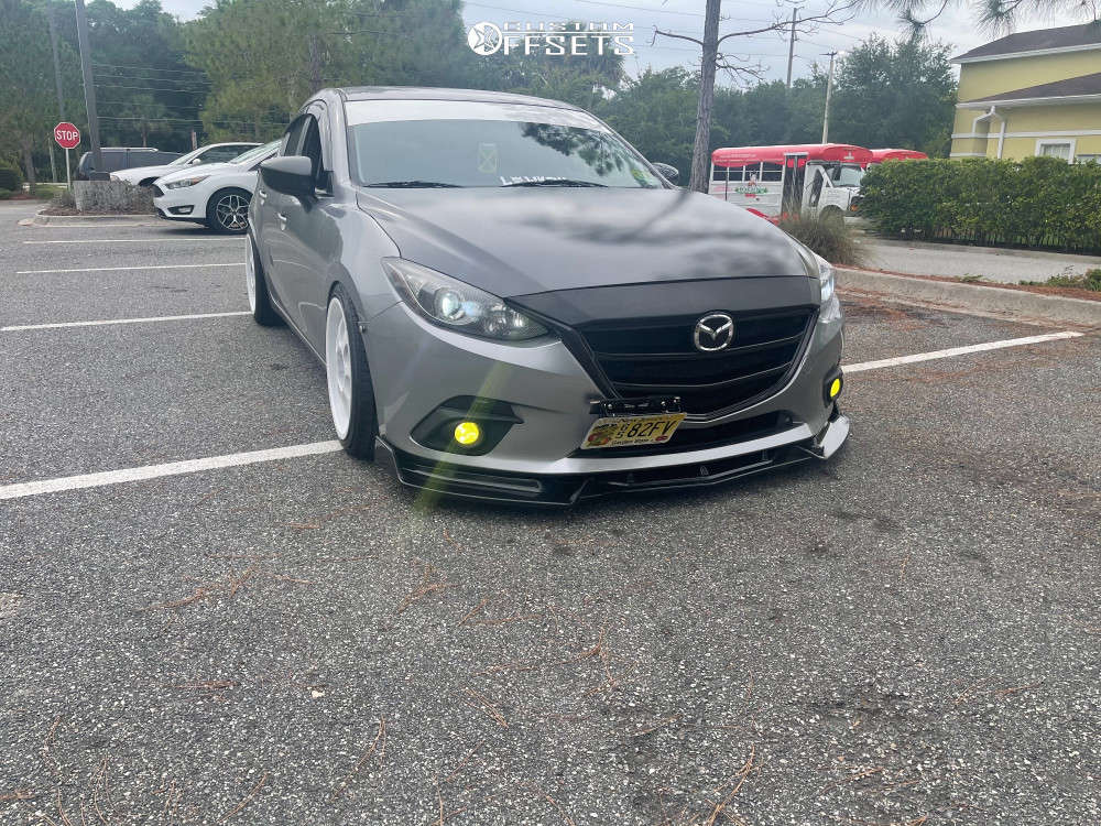 2016 Mazda 3 Tucked on 18x8.5 13 offset Kelleners Sport  & 225/40 Achilles Atr Sport 2 on Coilovers - Custom Offsets Gallery