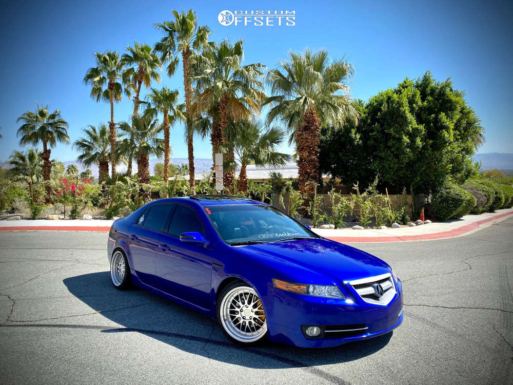2007 Acura TL Poke on 18x9.5 22 offset ESR Sr05 & 245/35 Toyo Tires Proxes Sport A/s on Coilovers - Custom Offsets Gallery