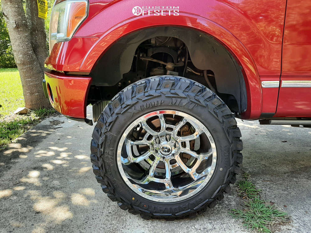 """2010 Ford F-150 Super Aggressive 3""""-5"""" on 20x12 -51 offset Vision Bomb & 35""""x12.5"""" Gladiator Xcomp Mt on Suspension Lift 7"""" - Custom Offsets Gallery"""