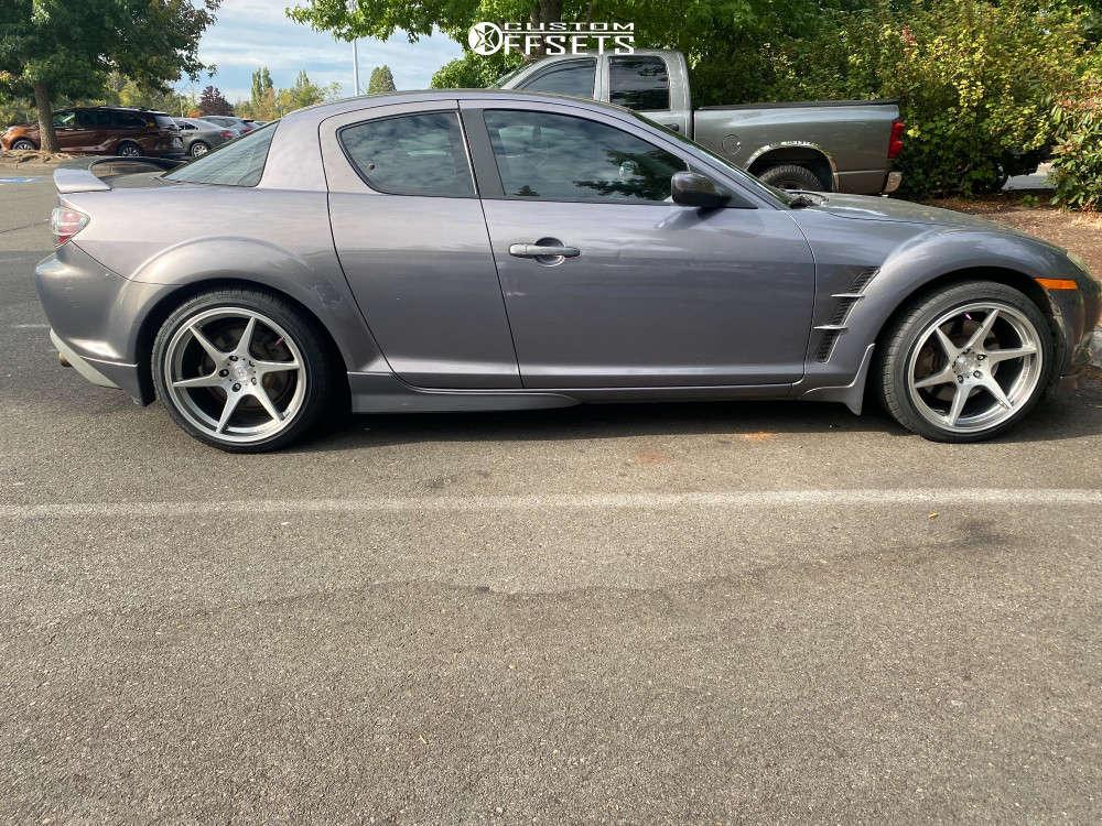 2007 Mazda RX-8 Nearly Flush on 18x9.5 30 offset Artisa ArtFormed Titan & 225/40 Vercelli Strada Ii on Stock - Custom Offsets Gallery