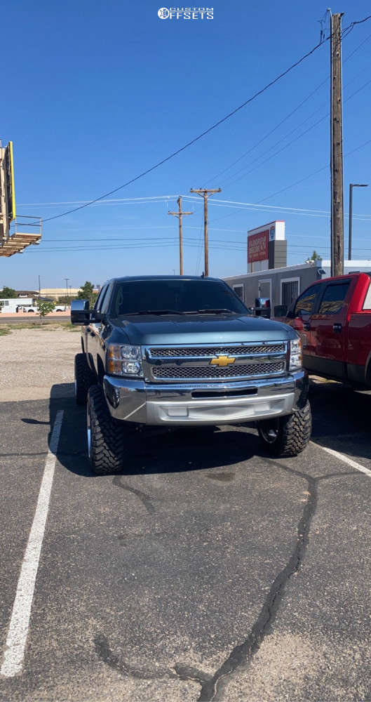 """2013 Chevrolet Silverado 1500 Super Aggressive 3""""-5"""" on 22x12 -40 offset American Force Kash Ss & 35""""x12.5"""" Toyo Tires Open Country M/t on Suspension Lift 7.5"""" - Custom Offsets Gallery"""