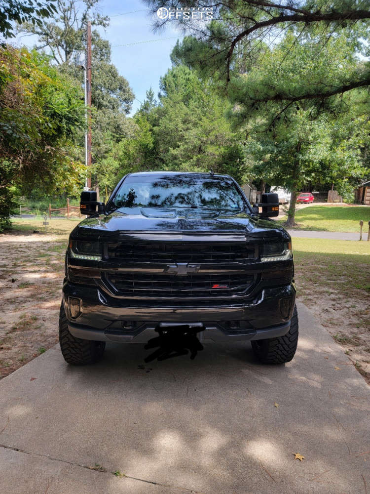 "2017 Chevrolet Silverado 1500 Aggressive > 1"" outside fender on 22x10 -24 offset Ballistic Rage 959 & 35""x12.5"" Atturo Trail Blade Mt on Suspension Lift 6.5"" - Custom Offsets Gallery"