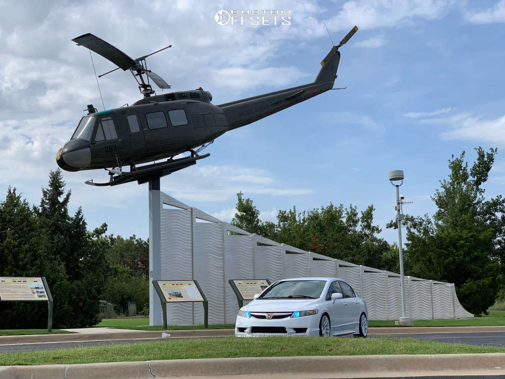 2009 Honda Civic Flush on 17x8 32 offset JNC Jnc030 & 215/45 Sentury Uhp on Coilovers - Custom Offsets Gallery