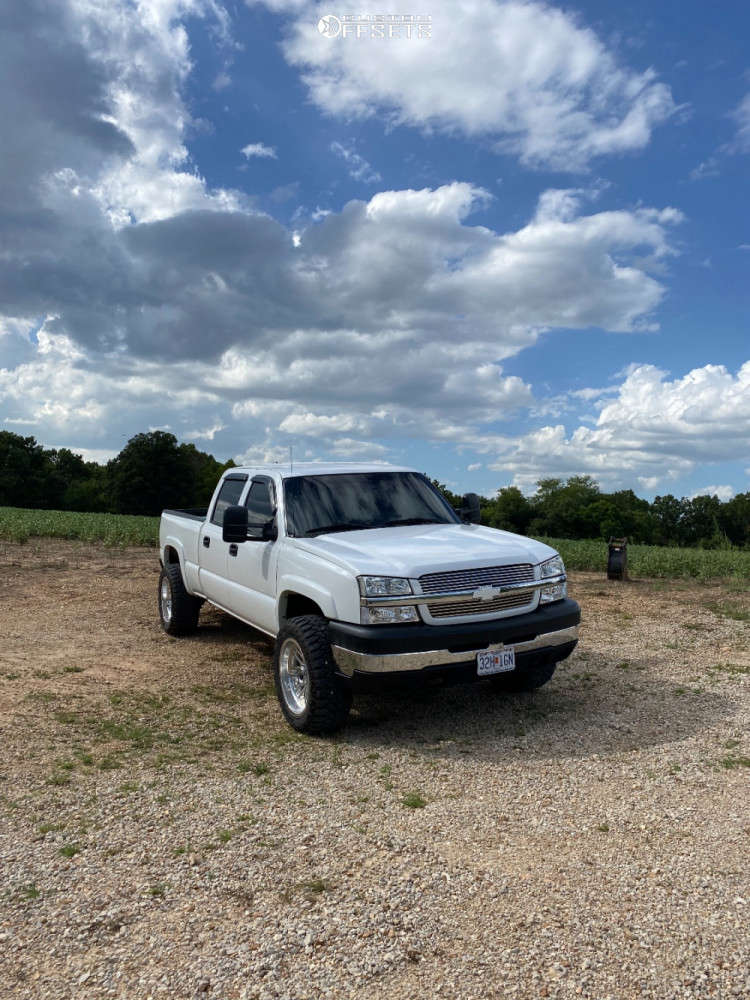 """2004 Chevrolet Silverado 2500 HD Super Aggressive 3""""-5"""" on 20x10 -19 offset Fuel Forged Ff66 & 33""""x12.5"""" Dirt Commander Centennial M/t on Stock Suspension - Custom Offsets Gallery"""
