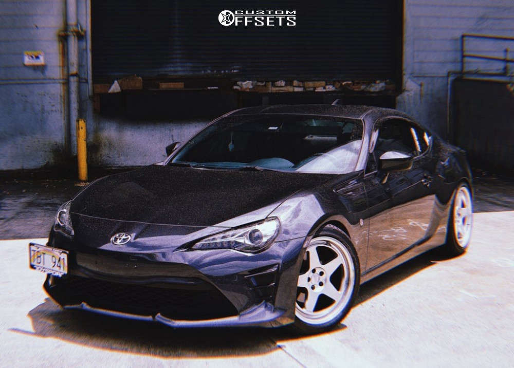 2017 Toyota 86 Flush on 18x9 35 offset Kansei Knp & 245/40 Ohtsu At4000 on Lowering Springs - Custom Offsets Gallery