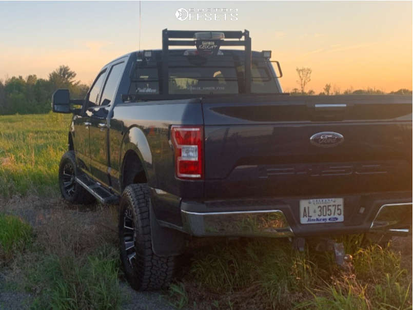 """2019 Ford F-150 Super Aggressive 3""""-5"""" on 18x9 -13 offset Fuel Assault D576 & 33""""x12.5"""" Falken A/t3 on Suspension Lift 6"""" - Custom Offsets Gallery"""
