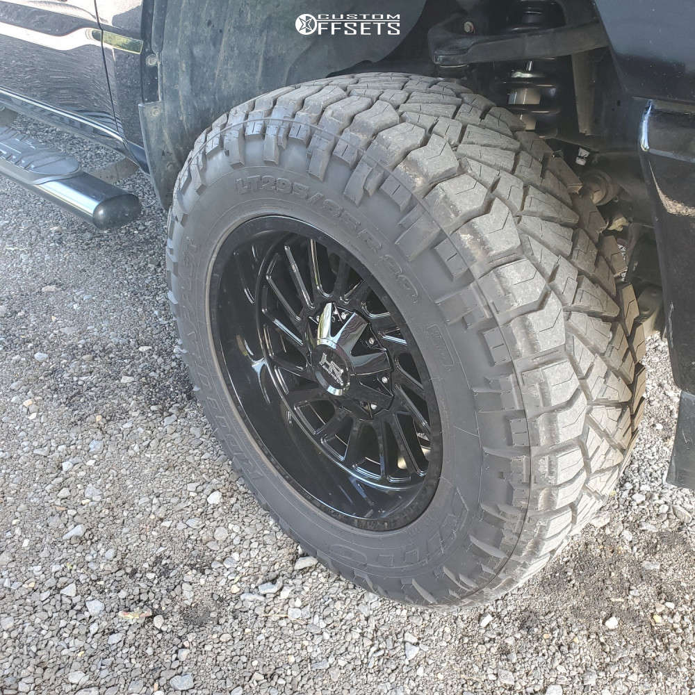 """2020 Ram 1500 Aggressive > 1"""" outside fender on 20x10 -19 offset Hardrock Overdrive H708 & 295/65 Nitto Ridge Grapplers on Suspension Lift 6"""" - Custom Offsets Gallery"""