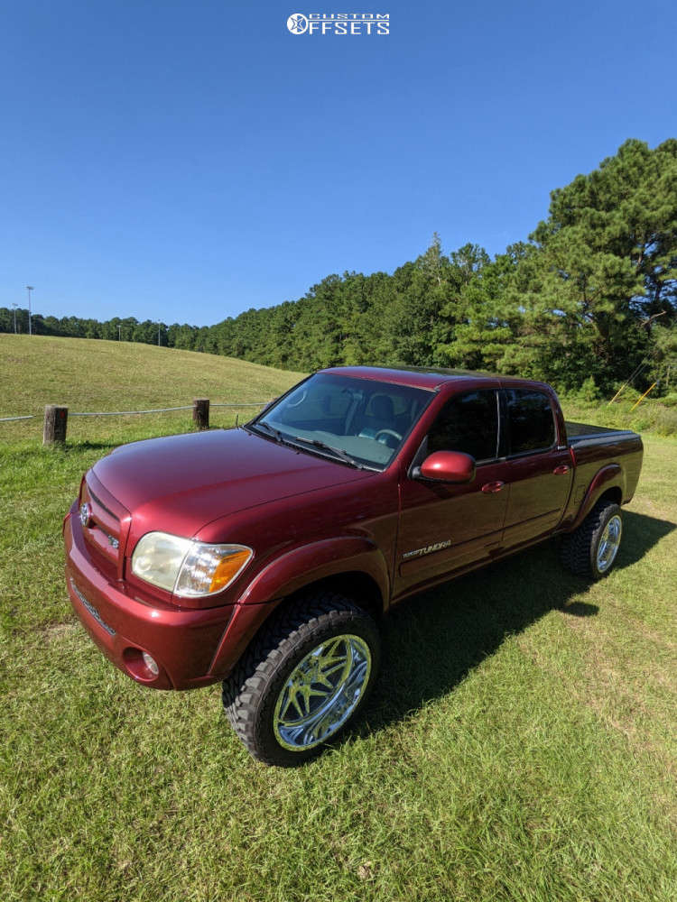 """2005 Toyota Tundra Super Aggressive 3""""-5"""" on 22x12 -55 offset American Force Genesis Cc & 33""""x12.5"""" Toyo Tires Open Country M/T on Leveling Kit - Custom Offsets Gallery"""