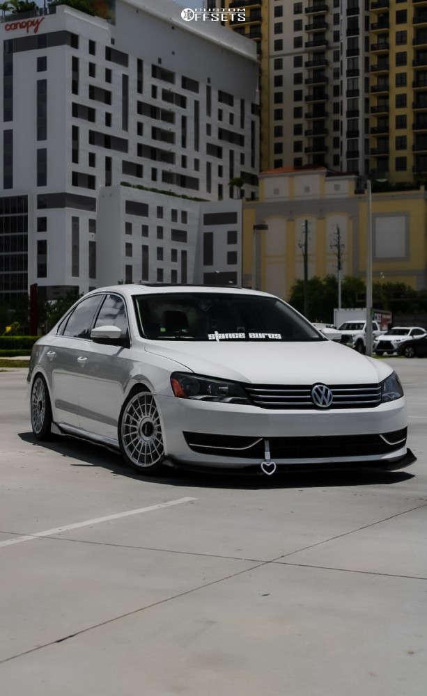 2014 Volkswagen Passat Flush on 18x8.5 35 offset Rotiform Las-r & 225/40 Fullway Hp108 on Coilovers - Custom Offsets Gallery
