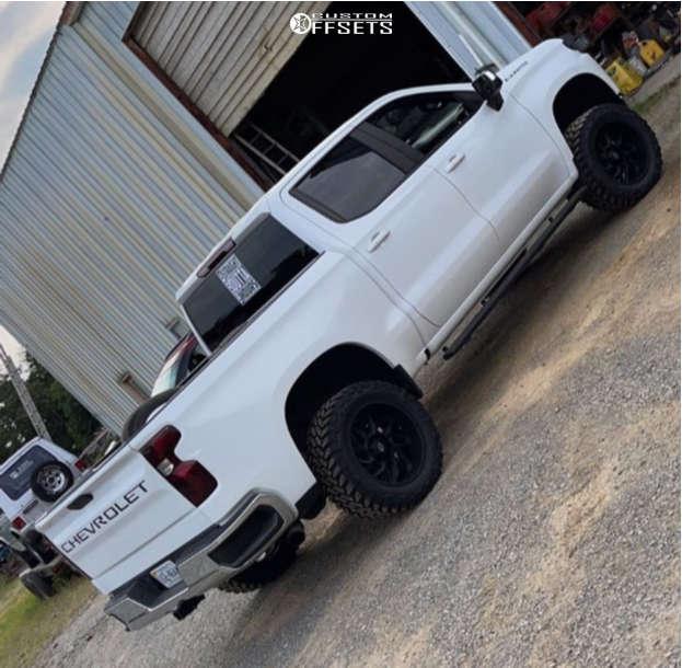 "2019 Chevrolet Silverado 1500 Super Aggressive 3""-5"" on 20x10 -51 offset Vision Spider & 33""x12.5"" Venom Power Terra Hunter Mt on Suspension Lift 4"" - Custom Offsets Gallery"