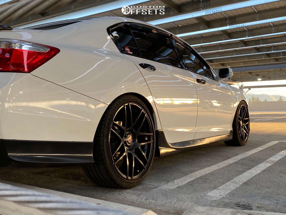 2015 Honda Accord HellaFlush on 20x9.75 35 offset Curva C300 & 245/35 Goodyear Eagle Sport on Lowering Springs - Custom Offsets Gallery