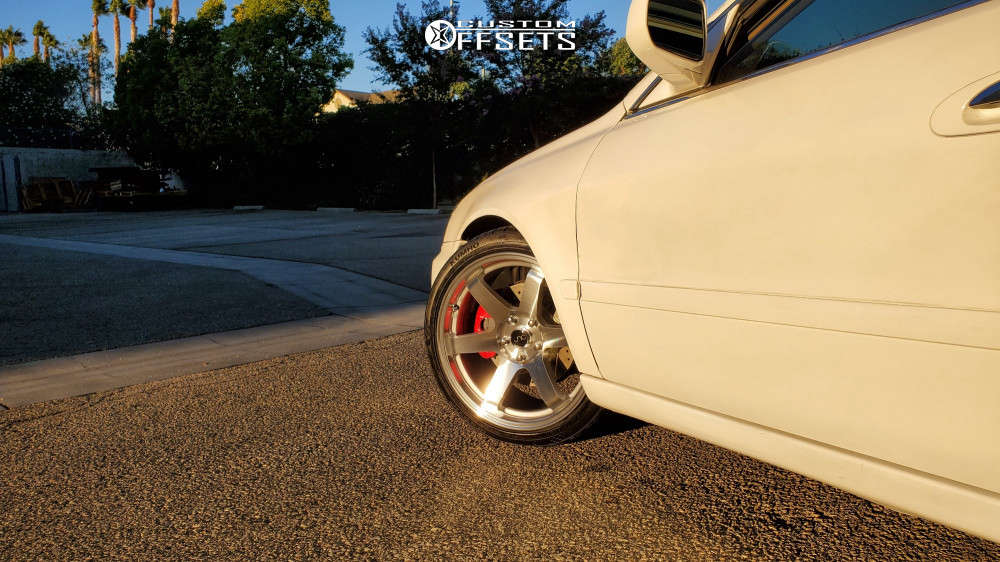 2002 Acura TL Nearly Flush on 18x8.5 35 offset Jnc Jnc014 & 225/40 Kumho Ecsta Ps31 on Coilovers - Custom Offsets Gallery