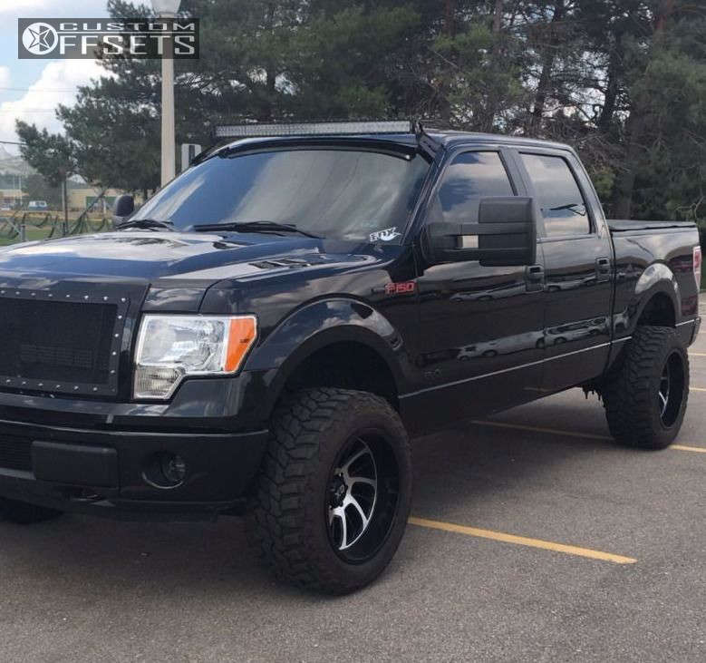 """2014 Ford F-150 Super Aggressive 3""""-5"""" on 20x12 -44 offset XD Surge & 305/55 Mastercraft Courser Mxt on Leveling Kit - Custom Offsets Gallery"""