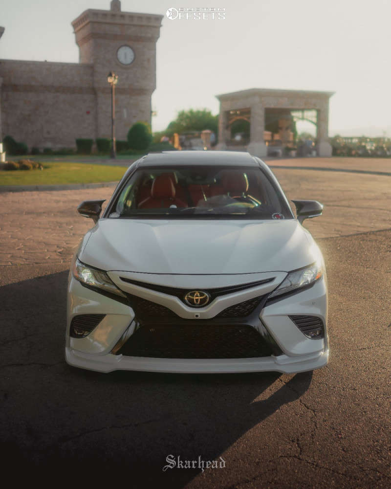 2019 Toyota Camry Tucked on 20x9 50 offset Work Vskf & 225/35 Delinte D7 Thunder on Air Suspension - Custom Offsets Gallery