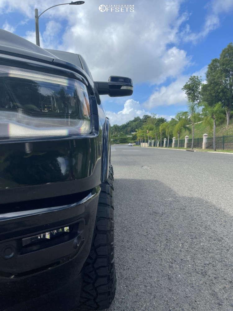 "2019 Ram 1500 HellaFlush on 18x9.5 1 offset Fuel Torque & 295/70 Nitto Ridge Grappler on Suspension Lift 2.5"" - Custom Offsets Gallery"