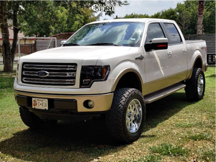 """2014 Ford F-150 Aggressive > 1"""" outside fender on 20x10 -24 offset XF Flow Xfx-301 & 35""""x12.5"""" Venom Power Terra Hunter X/t on Suspension Lift 6"""" - Custom Offsets Gallery"""