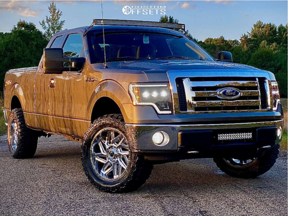 """2010 Ford F-150 Super Aggressive 3""""-5"""" on 20x9 12 offset Vision Spyder & 33""""x12.5"""" Good Trip GS-67 on Leveling Kit - Custom Offsets Gallery"""
