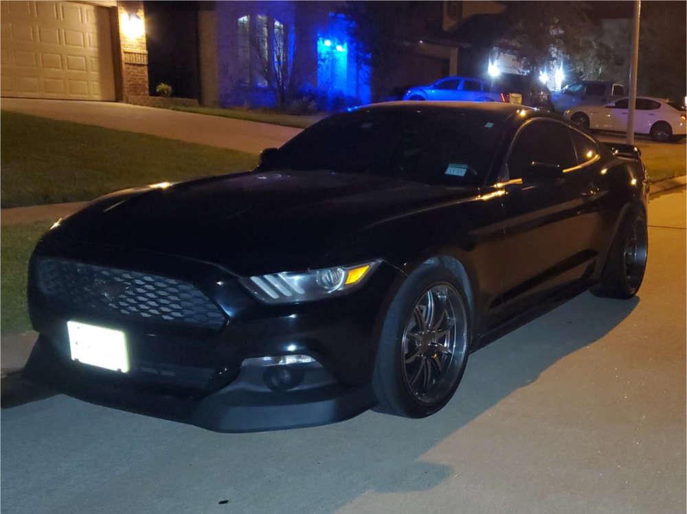 2016 Ford Mustang Flush on 20x9.5 45 offset XXR 527d & 255/35 Vercelli Strada I on Stock Suspension - Custom Offsets Gallery