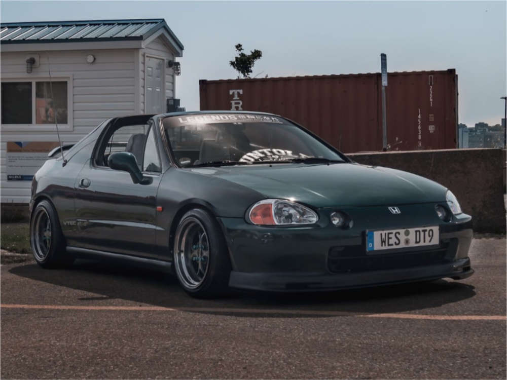1995 Honda Civic del Sol Nearly Flush on 15x8.5 17 offset Klutch Sl2 & 195/45 Nankang Ultra Sport Ns-2 on Coilovers - Custom Offsets Gallery