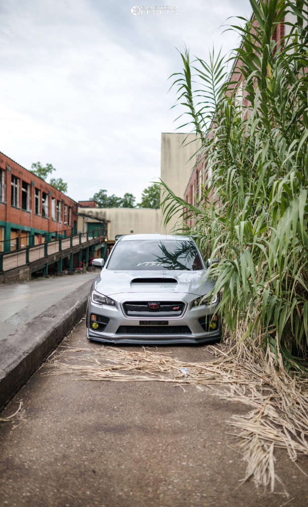 2015 Subaru WRX STI Flush on 19x10 22 offset Rotiform Tmb & 235/35 Toyo Extensa Hp on Air Suspension - Custom Offsets Gallery