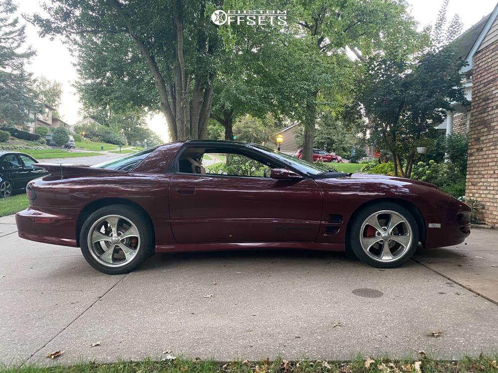 2002 Pontiac Firebird Tucked on 18x8 45 offset Boyd Coddington Boydster & 235/40 Fusion ZRi on Stock Suspension - Custom Offsets Gallery