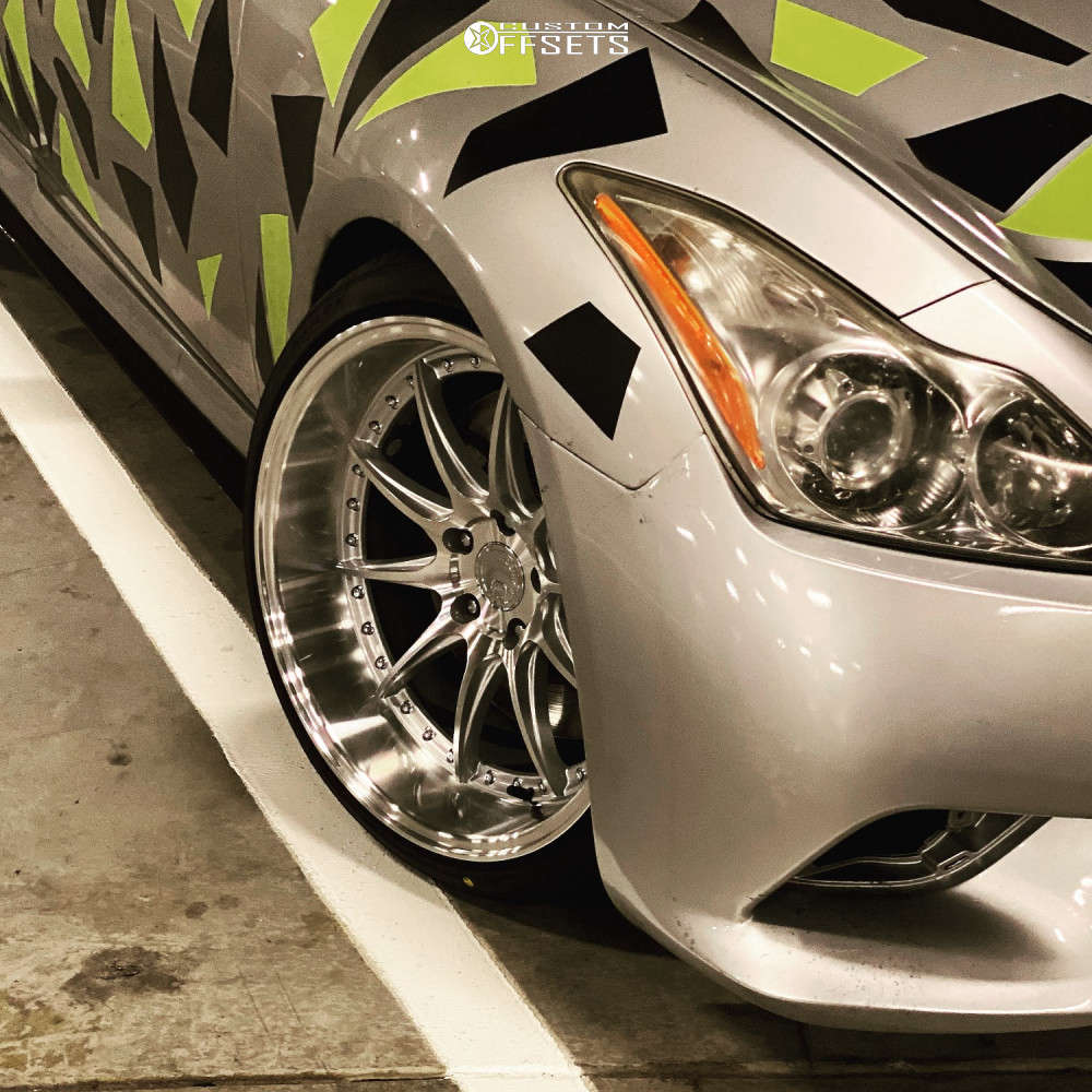 2010 Infiniti G37 Poke on 19x11 15 offset Aodhan Ds07 & 255/35 Sailun Artezzo Sva1 on Coilovers - Custom Offsets Gallery