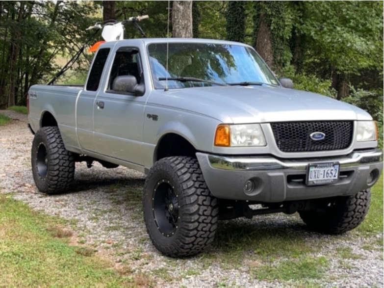 "2003 Ford Ranger Super Aggressive 3""-5"" on 17x9 -12 offset TIS 549b & 33""x12.5"" RBP Repulsor Mt Ii on Suspension Lift 4"" - Custom Offsets Gallery"
