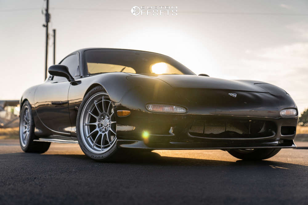 1993 Mazda RX-7 Nearly Flush on 18x9.5 40 offset Enkei Nt03m & 265/35 Toyo Proxes R888r on Coilovers - Custom Offsets Gallery