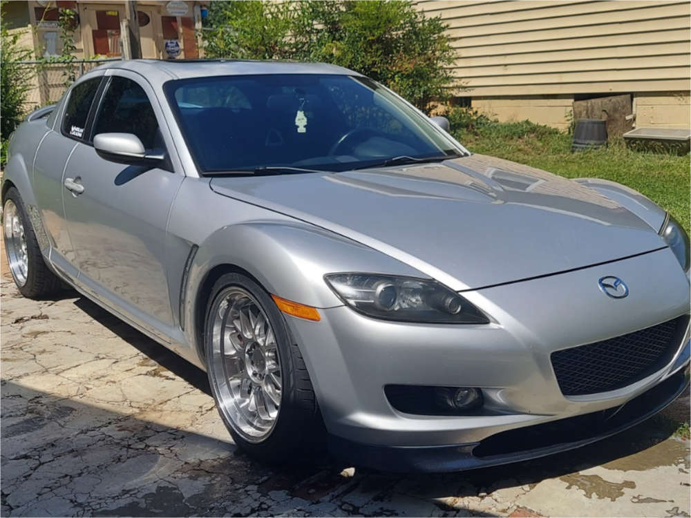 2004 Mazda RX-8 Flush on 18x9.5 35 offset F1R F21 & 245/40 Nitto Nt555 on Coilovers - Custom Offsets Gallery