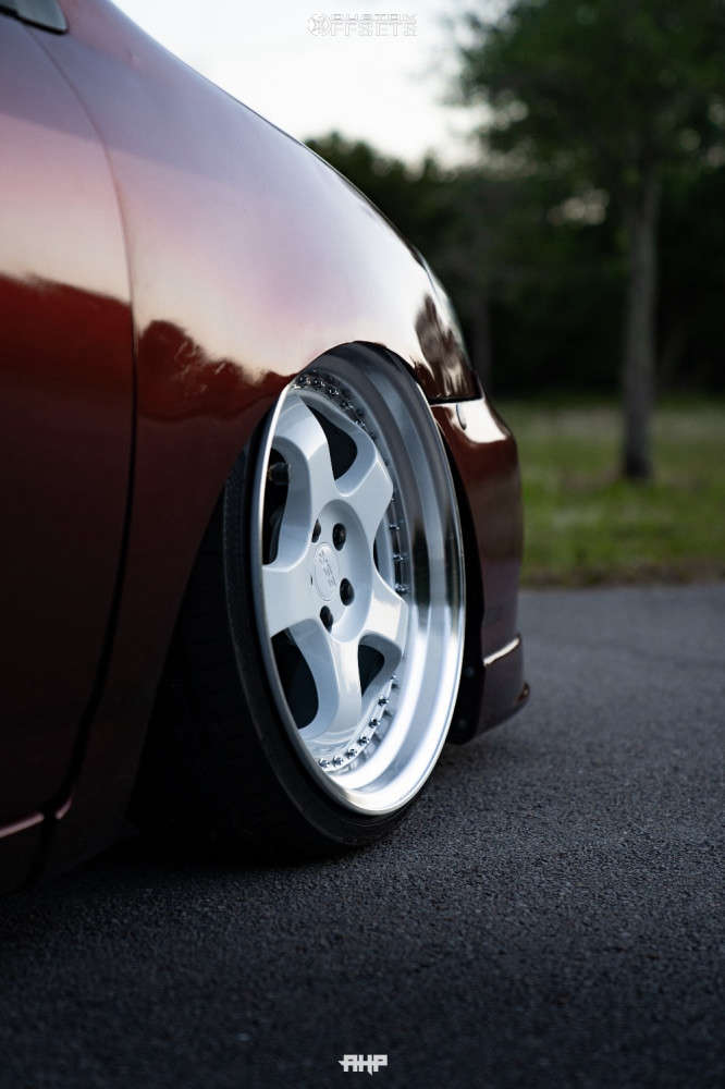 2008 Toyota Corolla Tucked on 18x8.5 30 offset ESR Sr06 & 195/35 Atlas Force Uhp on Coilovers - Custom Offsets Gallery