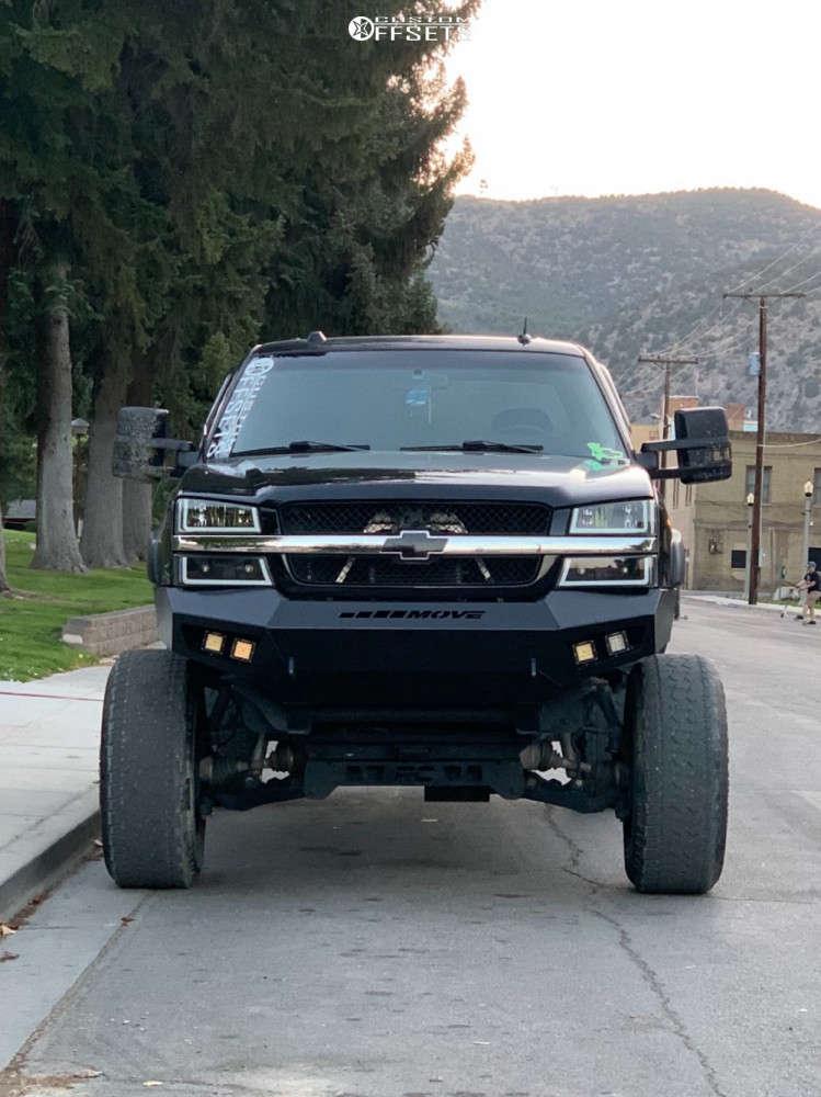 "2004 Chevrolet Silverado 2500 HD Super Aggressive 3""-5"" on 20x12 -44 offset RBP 65r Glock & 37""x12.5"" Radar Renegade At5 on Suspension Lift 6"" & Body 3"" - Custom Offsets Gallery"