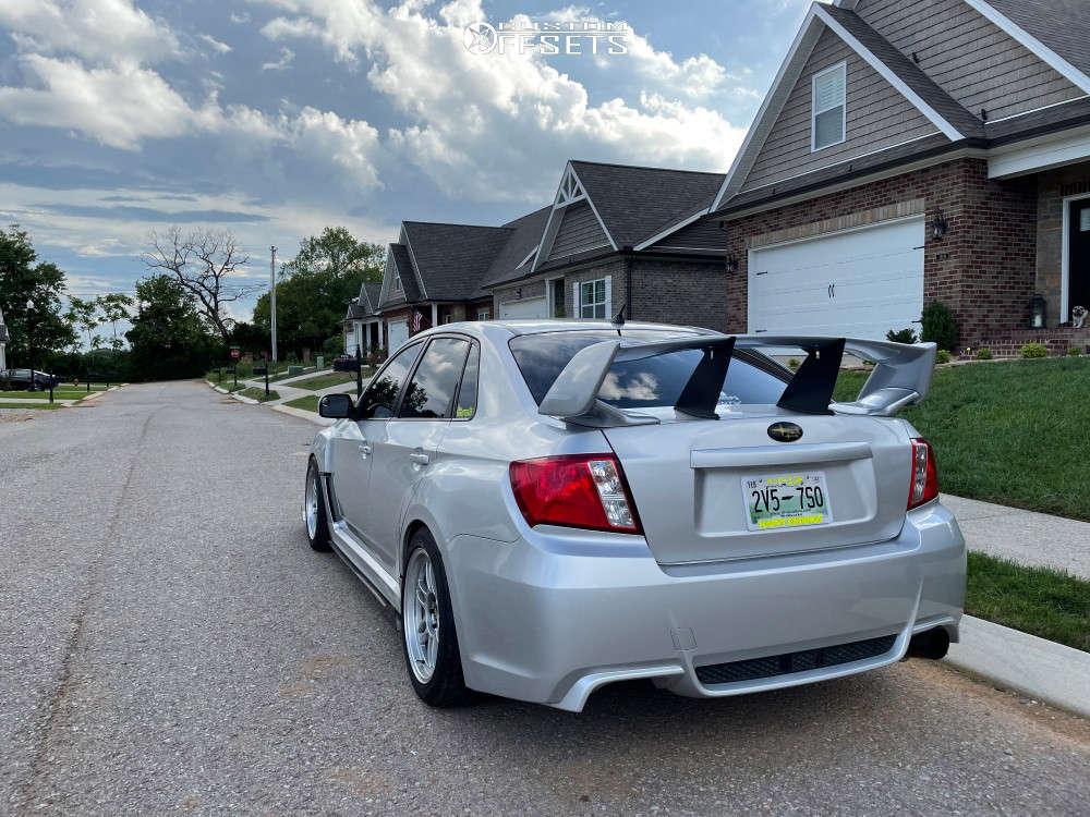2011 Subaru WRX Flush on 17x9 35 offset Enkei Rpf1 & 255/40 Federal 595 Ss on Coilovers - Custom Offsets Gallery
