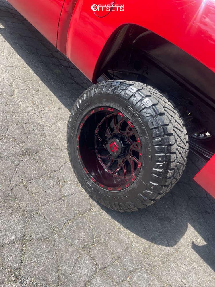"2011 Chevrolet Silverado 1500 Super Aggressive 3""-5"" on 20x12 -31.2999 offset Tis 544rm & 35""x12.5"" Nitto Ridge Grapplers on Suspension Lift 6"" - Custom Offsets Gallery"