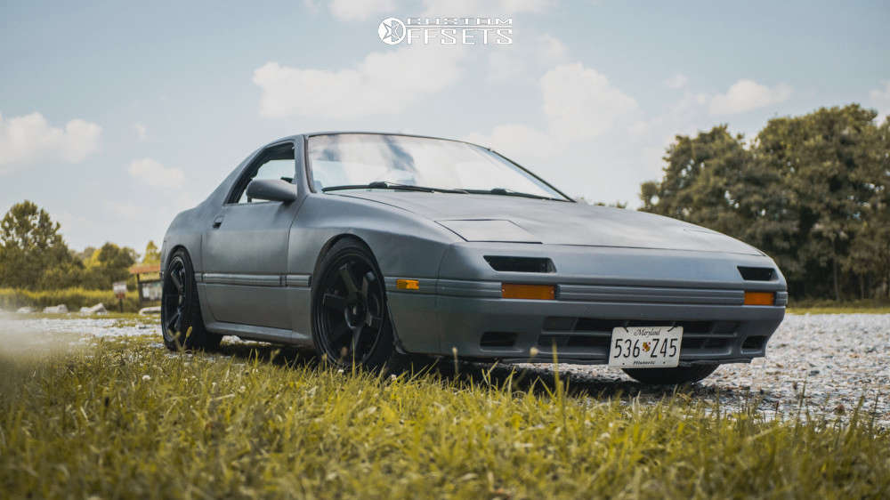 1986 Mazda RX-7 Flush on 17x9 20 offset MST Time Attack & 215/45 Firestone Fr740 on Coilovers - Custom Offsets Gallery