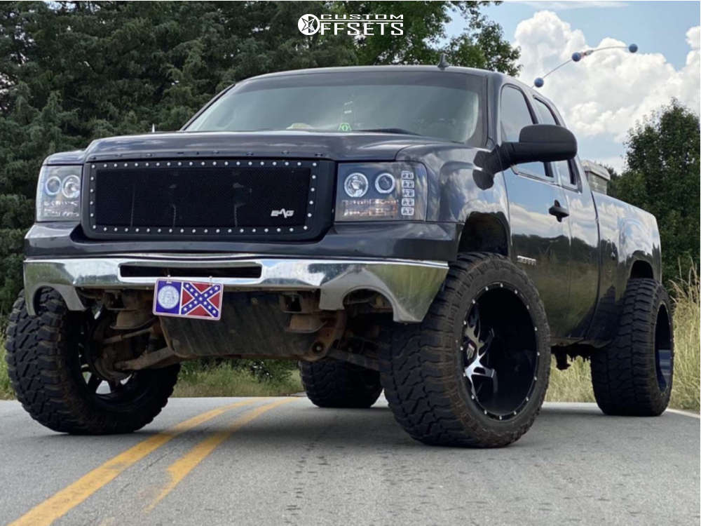 """2011 GMC Sierra 1500 Super Aggressive 3""""-5"""" on 22x14 -76 offset American Truxx Spider & 35""""x15.5"""" Fury Country Hunter Mt2 on Leveling Kit - Custom Offsets Gallery"""