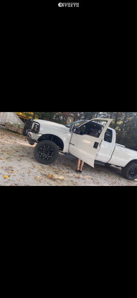 """2001 Ford F-250 Super Duty Aggressive > 1"""" outside fender on 20x10 -24 offset XD Hoss & 35""""x12.5"""" Federal Couragia M/t on Leveling Kit - Custom Offsets Gallery"""