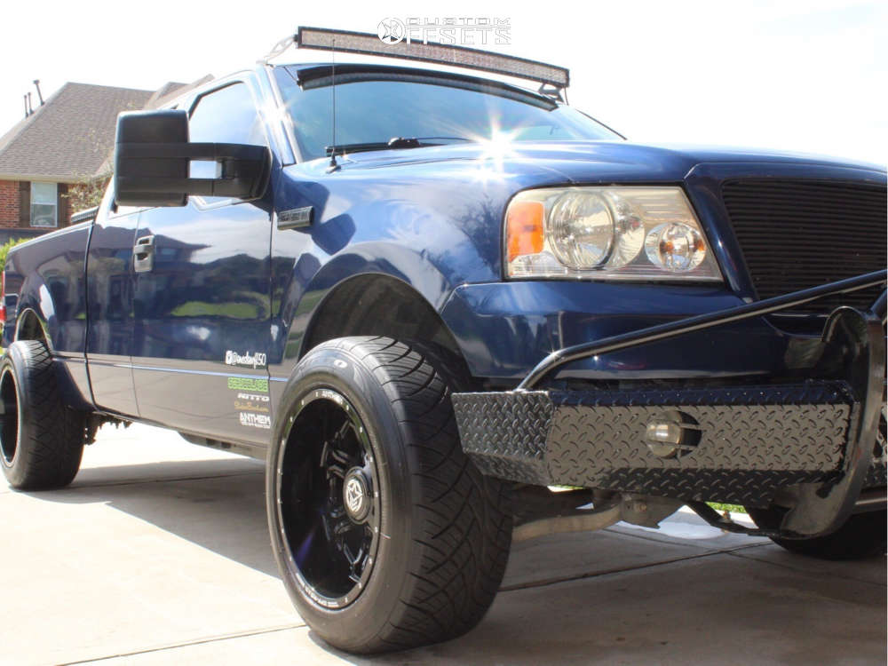 "2007 Ford F-150 Super Aggressive 3""-5"" on 20x12 -44 offset Anthem Off-Road Aviator and 305/50 Nitto Nt420s on Stock Suspension - Custom Offsets Gallery"