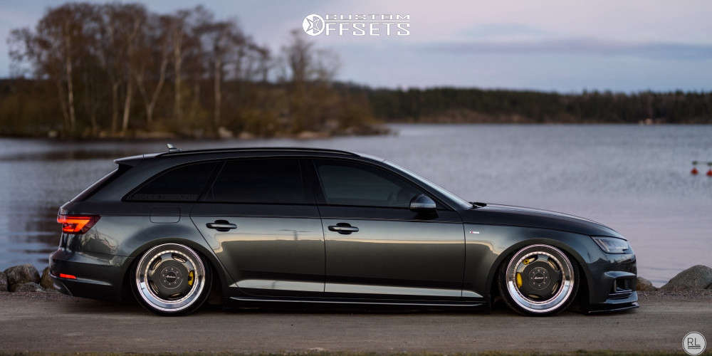 2018 Audi A4 Quattro Tucked on 19x9 35 offset Lorinser Rsk2 & 215/35 Sunny Sn3970 on Air Suspension - Custom Offsets Gallery