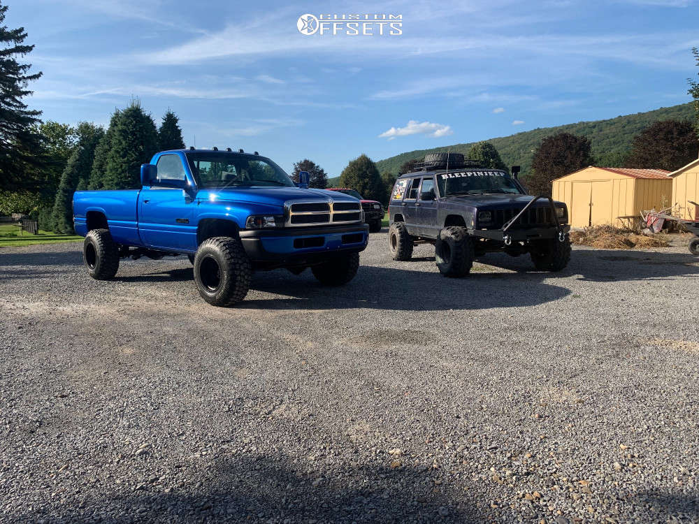 """1996 Dodge Ram 2500 Super Aggressive 3""""-5"""" on 16x12 -44 offset Mickey Thompson Classic Baja Lock & 285/75 Ironman All Country M/t on Stock Suspension - Custom Offsets Gallery"""