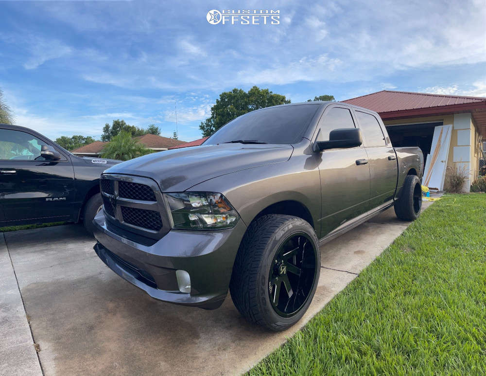"""2019 Ram 1500 Classic Super Aggressive 3""""-5"""" on 22x12 -51 offset ARKON OFF-ROAD Lincoln & 33""""x12.5"""" Toyo Tires Proxes S/t on Level 2"""" Drop Rear - Custom Offsets Gallery"""