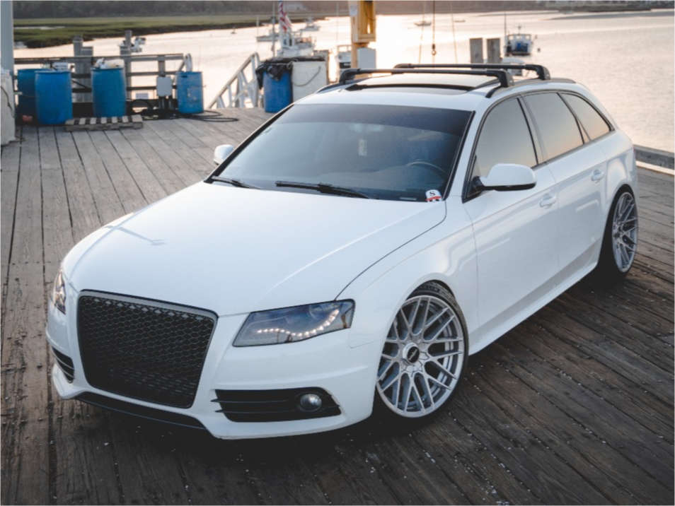 2012 Audi A4 Quattro Flush on 19x10 35 offset Rotiform Rse & 235/35 Michelin Pilot Sport 4 S on Coilovers - Custom Offsets Gallery
