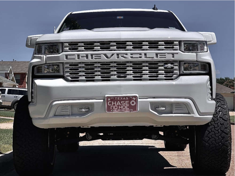 "2020 Chevrolet Silverado 1500 Super Aggressive 3""-5"" on 24x14 -76 offset TIS 544c & 37""x13.5"" Venom Power Terra Hunter X/t on Suspension Lift 8"" - Custom Offsets Gallery"