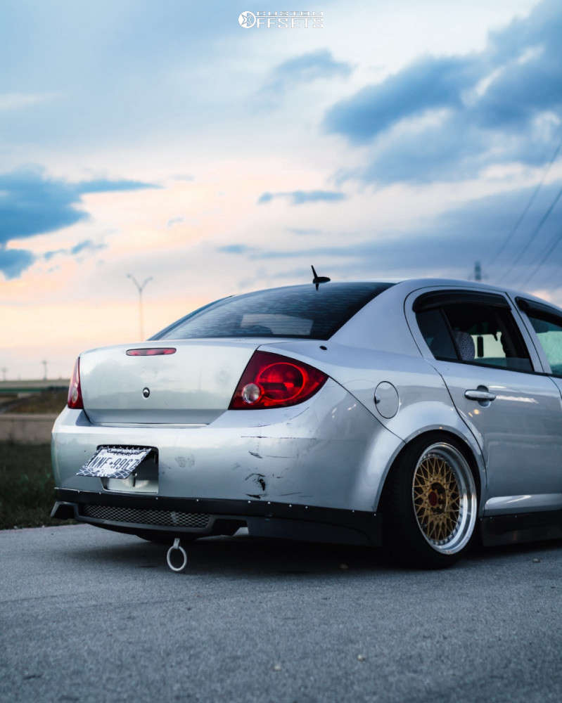 2009 Chevrolet Cobalt Nearly Flush on 17x9 25 offset Aodhan Ah05 & 205/40 Federal 595 on Air Suspension - Custom Offsets Gallery