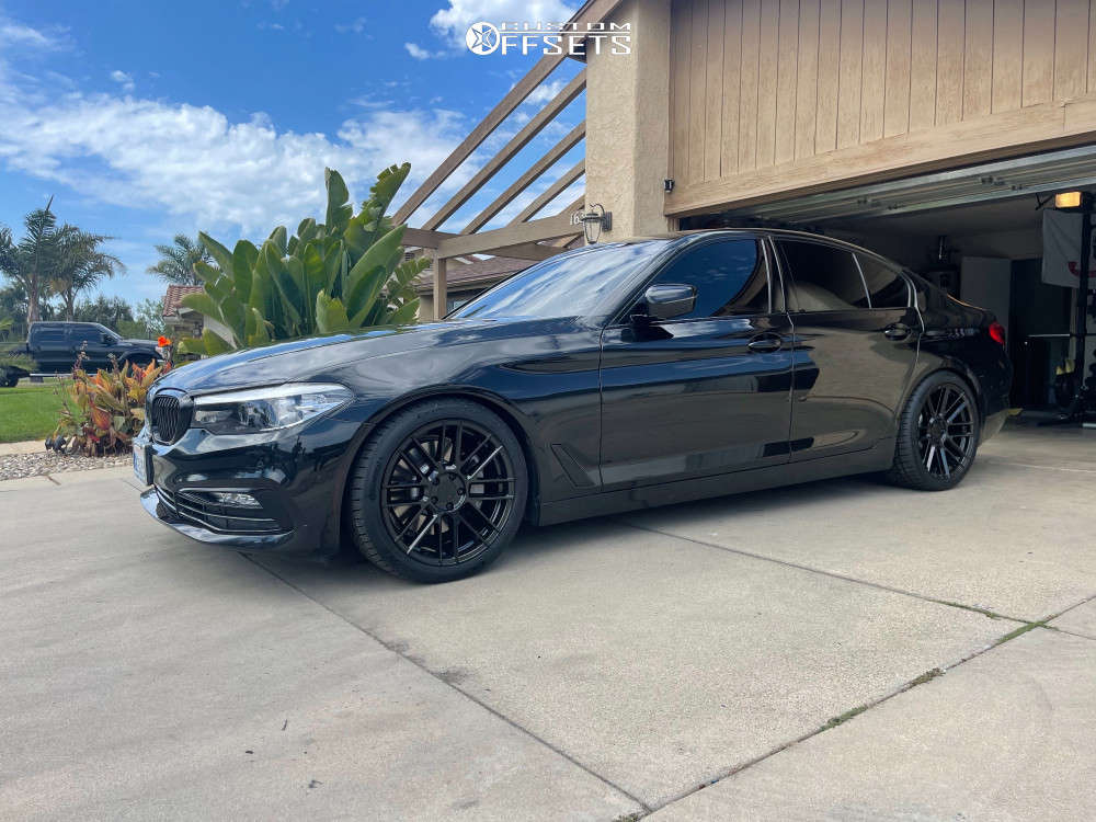 2018 BMW 530i Nearly Flush on 19x8.5 32 offset TSW Mosport & 245/40 Continental Extremecontact Dws06 Plus on Lowering Springs - Custom Offsets Gallery